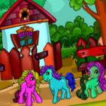 Kifestős Póni otthon lovas játék