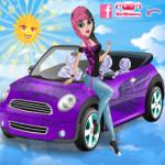 Mini autó és a gazdája öltöztetős játék