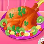 Sült pulyka díszítés főzős játék