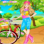 Barbie a parkban öltöztetős játék
