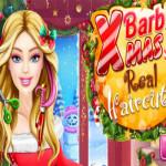 Barbie karácsonyi frizurája fodrászos játék