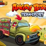 Transport autós ügyességi Angry Birds játék