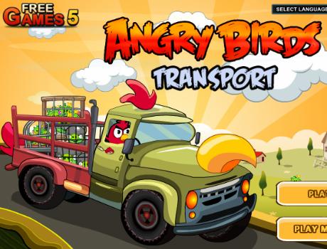 Transporter-autos-ugyessegi-Angry-Birds-jatek