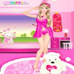 Barbie hálóingje öltöztetős játék