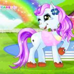 Édes baby pony lovas játék