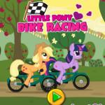 Én kicsi pónim bicikli verseny lovas játék