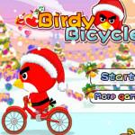 Karácsonyi biciklizés Angry Birds játék