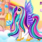 Póni hercegnő öltöztetős lovas játék