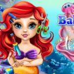 Ariel bébi fodrászos játék