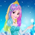 Elsa szuper hajkoronája fodrászos játék