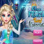 Elsa szuper jó frizurája fodrászos játék