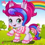 Édes baba póni öltöztetős lovas játék