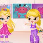 Fal festő lányok öltöztetős játék