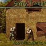 Katonai kiképző helyiség lövöldözős játék