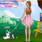 Kutyás lány öltöztetős játék