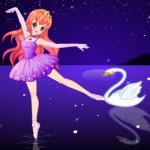 Balett táncos lány öltöztetős játék