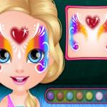 Hobbi arcfestés Barbie játék