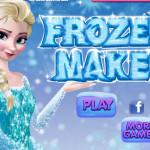 Elsa sminkje fodrászos játék