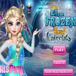 Elsa frizurája jégvarázs játék