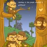 Majom és a banán állatos játék