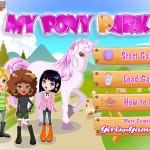 Pony park lovas játék