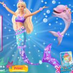 Barbie sellőkaland játék