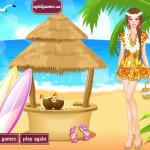 Barbie a Hawaii tengerparton öltöztetős játék