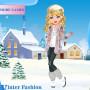 Téli divat Barbie öltöztetős játék