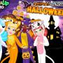 Állatos halloween öltöztetős játék