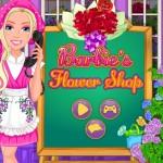 Virágos bolt Barbie játék